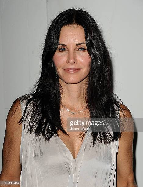 Actress Courteney Cox attends the EBMRF And PlayStation Epic Halloween Bash on October 27 2012 in Los Angeles California
