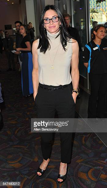 Actress Courteney Cox attends the premiere of Amazon Studios' 'Gleason' at Regal LA Live Stadium 14 on July 14 2016 in Los Angeles California