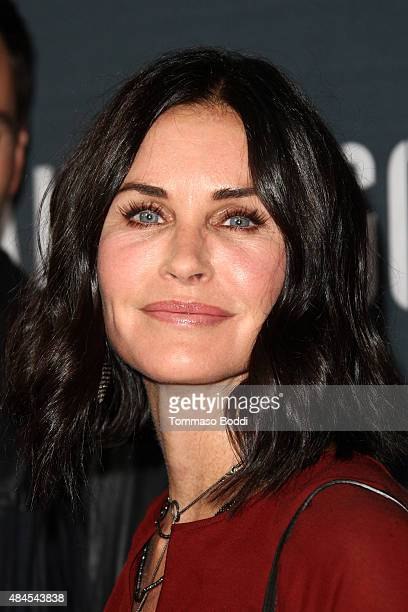Actress Courteney Cox attends the premiere of Amazon's series 'Hand Of God' held at the Ace Theater Downtown LA on August 19 2015 in Los Angeles...