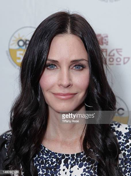 Actress Courteney Cox attends the Vintage Hollywood Fundraiser for Ocean Park Community Center at David Arquette's home on June 9 2012 in Beverly...