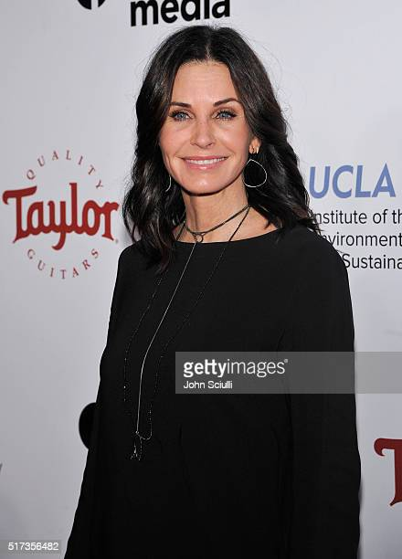 Actress Courteney Cox attends UCLA Institute of the Environment and Sustainability annual Gala on March 24 2016 in Beverly Hills California