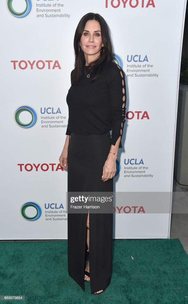 Actress Courteney Cox attends UCLA Institute of the Environment and Sustainability celebrates Innovators For A Healthy Planet at a private residence on March 13, 2017 in Beverly Hills,California.