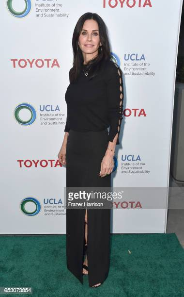 Actress Courteney Cox attends UCLA Institute of the Environment and Sustainability celebrates Innovators For A Healthy Planet at a private residence...