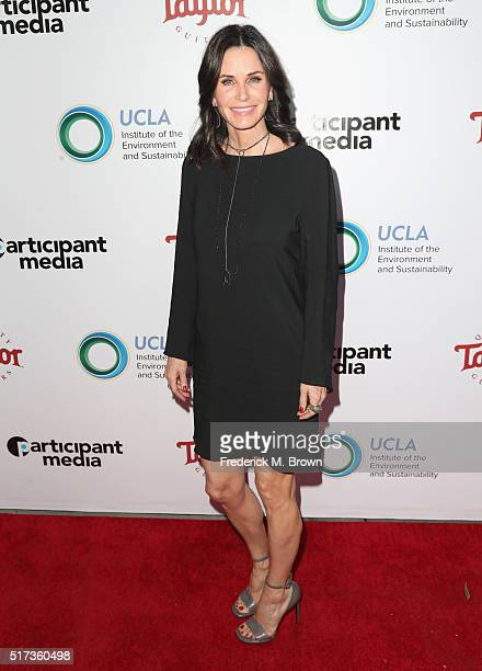 Actress Courteney Cox attends UCLA IOES celebration of the Champions of our Planet's Future on March 24 2016 in Beverly Hills California
