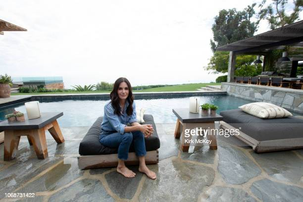 Actress Courteney Cox is photographed for Los Angeles Times on October 13 2018 at home in Malibu California PUBLISHED IMAGE CREDIT MUST READ Kirk...