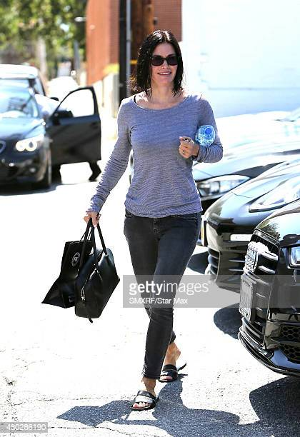 Actress Courteney Cox is seen on July 10 2015 in Los Angeles California