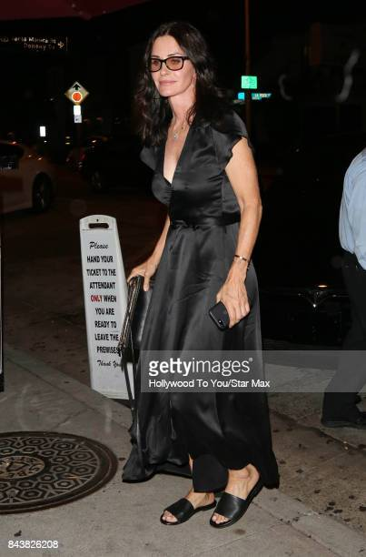 Actress Courteney Cox is seen on September 6 2017 in Los Angeles CA