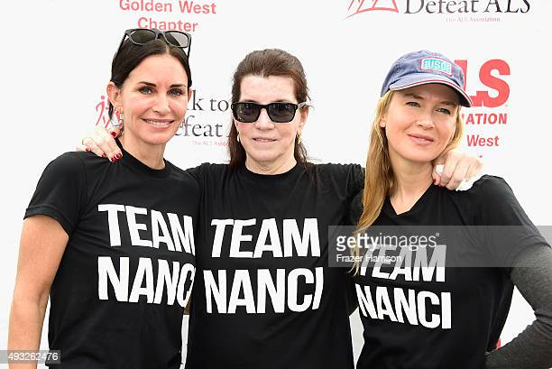 Actress Courteney Cox Nanci Ryder actress Renée Zellweger attend the Nanci Ryder's Team Nanci At The 13th Annual LA County Walk To Defeat ALS at...