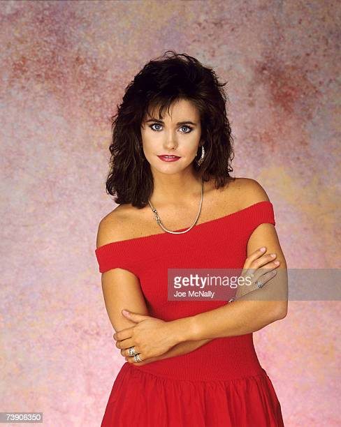 Actress Courteney Cox poses for a portrait on December 1987 in New York City Cox became best known for her role as Monica Geller in the long running...