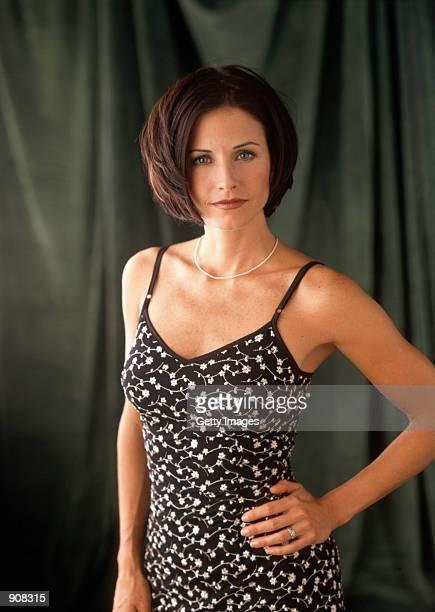 "Actress Courteney Cox stars as Monica Geller in NBC's comedy series ""Friends."""