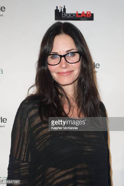 Actress Courtney Cox attends Kusewera benefit party at The Loft on February 22 2014 in Los Angeles California