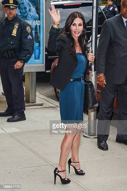 Actress Courtney Cox leaves Del Posto restaurant on May 15 2013 in New York City