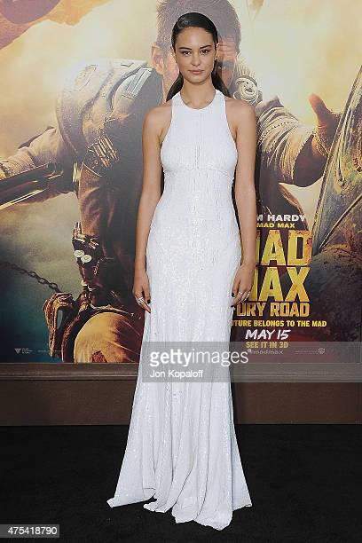 "Actress Courtney Eaton arrives at the Los Angeles Premiere ""Mad Max: Fury Road"" at TCL Chinese Theatre IMAX on May 7, 2015 in Hollywood, California."