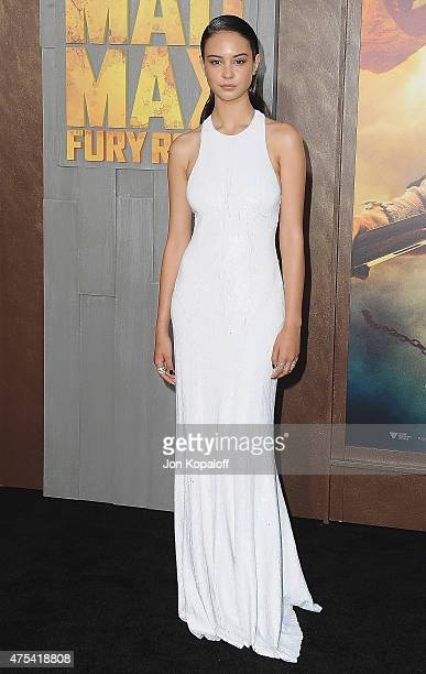Actress Courtney Eaton arrives at the Los Angeles Premiere 'Mad Max Fury Road' at TCL Chinese Theatre IMAX on May 7 2015 in Hollywood California
