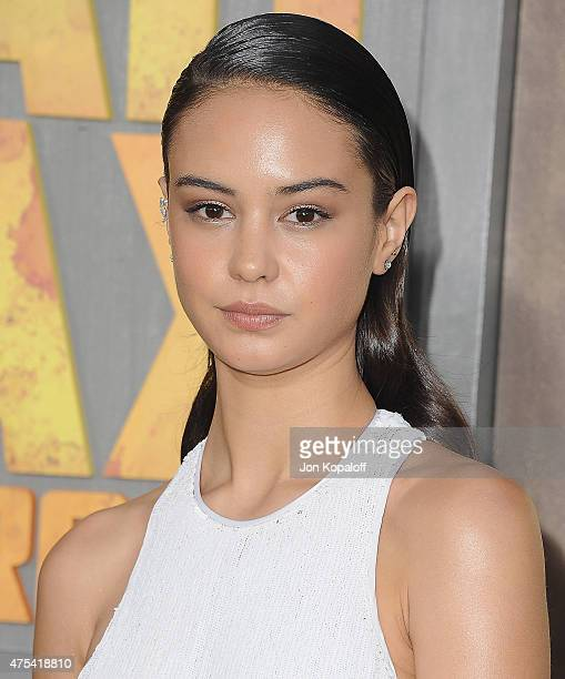 Actress Courtney Eaton arrives at the Los Angeles Premiere Mad Max Fury Road at TCL Chinese Theatre IMAX on May 7 2015 in Hollywood California