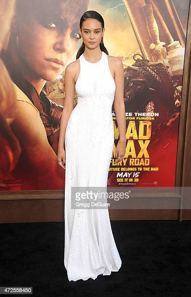 Actress Courtney Eaton arrives at the Los Angeles premiere of 'Mad Max Fury Road' at TCL Chinese Theatre IMAX on May 7 2015 in Hollywood California