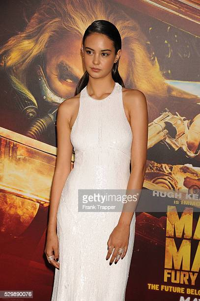 """Actress Courtney Eaton arrives at the premiere of """"Mad Max: Fury Road"""" held at the TCL Chinese Theater in Hollywood."""