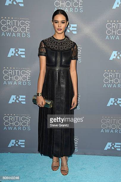 Actress Courtney Eaton attends the 21st Annual Critics' Choice Awards at Barker Hangar on January 17, 2016 in Santa Monica, California.