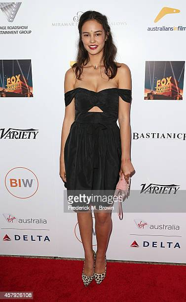 Actress Courtney Eaton attends the 3rd Annual Australians in Film Awards Benefit Gala at the Fairmont Miramar Hotel on October 26, 2014 in Santa...