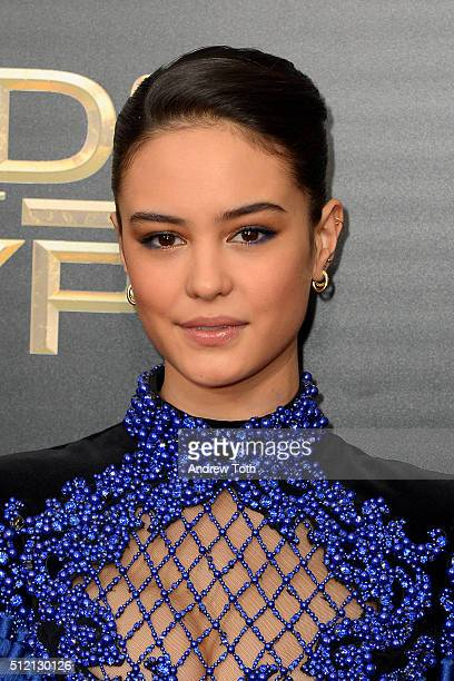 Actress Courtney Eaton attends the Gods Of Egypt New York City premiere at AMC Loews Lincoln Square 13 theater on February 24 2016 in New York City