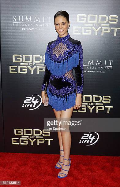 Actress Courtney Eaton attends the Gods Of Egypt New York premiere at AMC Loews Lincoln Square 13 on February 24 2016 in New York City