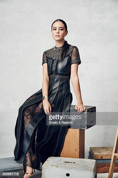 Actress Courtney Eaton poses for a portrait during the 21st Annual Critics' Choice Awards at Barker Hangar on January 17 2016 in Santa Monica...