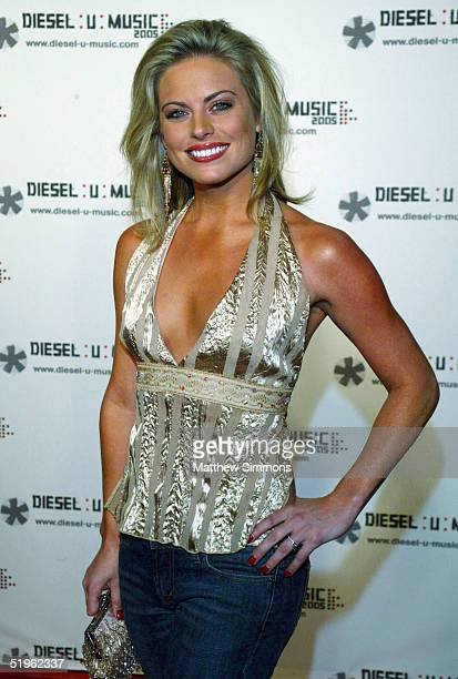 Actress Courtney Friel arrives at the Diesel U Music Launch on January 13 2005 at the Ivar in Hollywood California