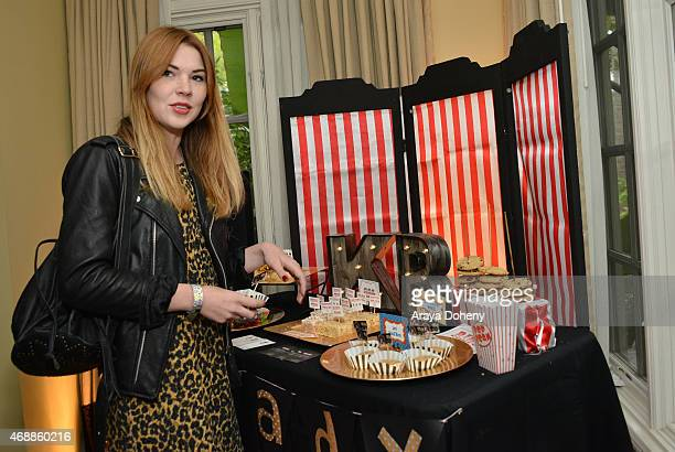 Actress Courtney Halverson attends Kari Feinstein's Music Festival Style Lounge at Sunset Marquis Hotel Villas on April 7 2015 in West Hollywood...