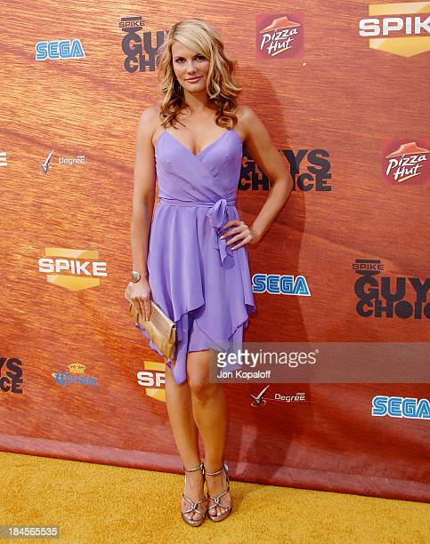 Actress Courtney Hansen arrives at Spike TV's 2nd Annual 'Guys Choice' Awards at Sony Studios on May 30 2008 in Culver City California