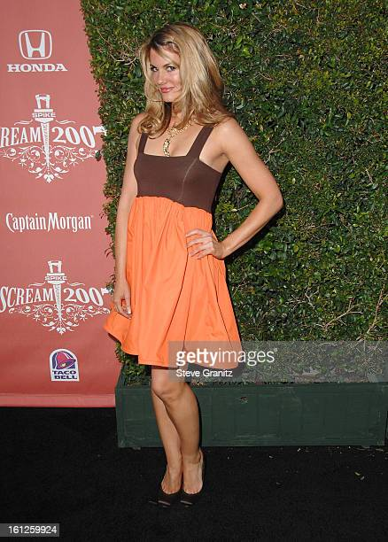Actress Courtney Hansen arrives at Spike TV's 'Scream 2007' held at The Greek Theatre on October 19 2007 in Los Angeles California