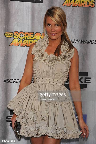 Actress Courtney Hansen arrives at Spike TV's 'SCREAM 2011' awards held at Universal Studios