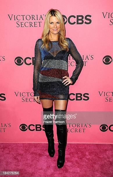 Actress Courtney Hansen arrives at the 2011 Victoria's Secret Fashion Show Viewing Party at the Samueli Theater Segerstrom Center for the Arts on...