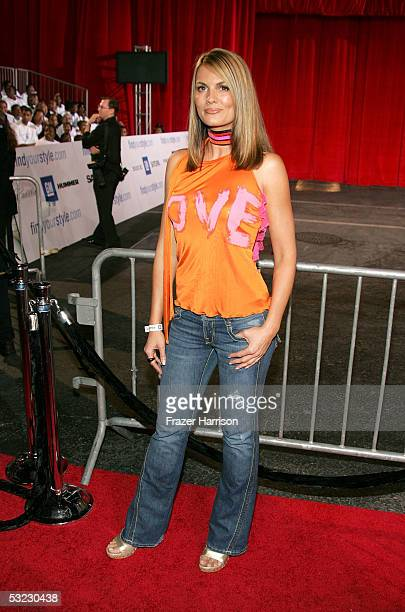 Actress Courtney Hansen arrives at the 2nd Annual Rollin' 24 Deep GM AllCar Showdown held at Paramount Pictures on July 12 2005 in Hollywood...