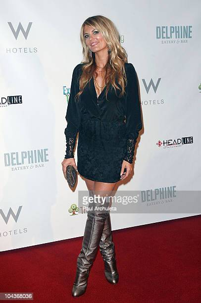 Actress Courtney Hansen arrives at the Bullets 4 Peace celebration at the W Hollywood on September 21 2010 in Hollywood California