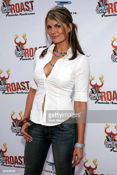 Actress Courtney Hansen arrives at the Comedy Central Roast of Pamela Anderson at Sony Studios on August 7 2005 in Culver City California