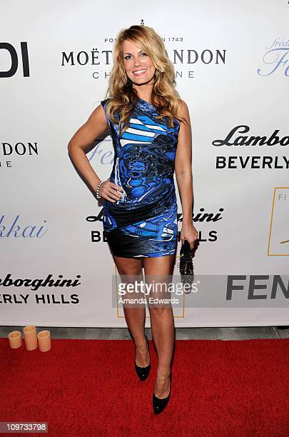 Actress Courtney Hansen arrives at the first night of the grand opening party of Fig Olive Melrose Place on March 2 2011 in West Hollywood California