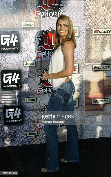 Actress Courtney Hansen arrives at the Gphoria Awards at the Los Angeles Center Studios on July 27 2005 in Los Angeles California