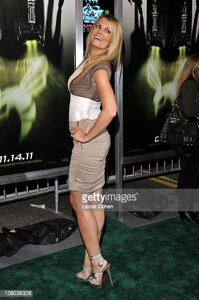 Actress Courtney Hansen arrives at 'The Green Hornet 3D' Los Angeles Premiere held at Grauman's Chinese Theatre on January 10 2011 in Hollywood...