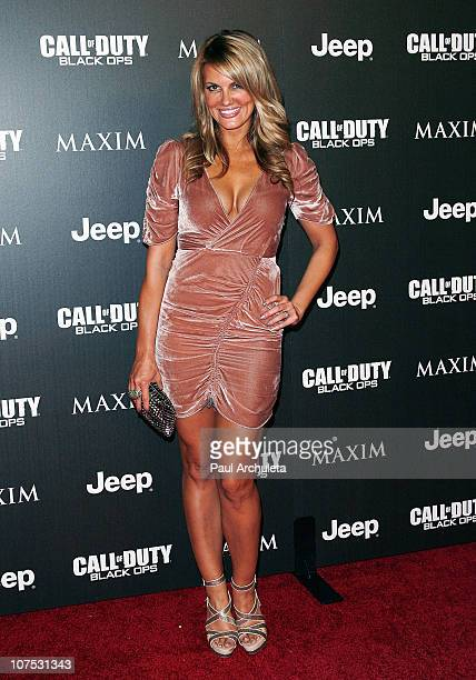Actress Courtney Hansen arrives at the Jeep Maxim and Call Of Duty Black Ops celebration of the Maximum Warrior Launch at SupperClub Los Angeles on...