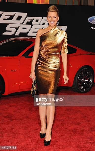 Actress Courtney Hansen arrives at the Los Angeles Premiere 'Need For Speed' at TCL Chinese Theatre on March 6 2014 in Hollywood California