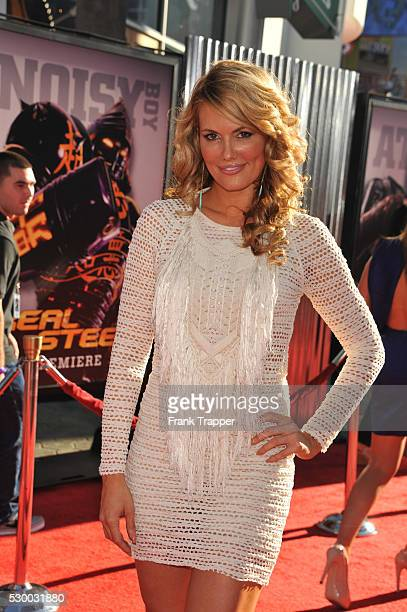 Actress Courtney Hansen arrives at the premiere of 'Real Steel' held at the Gibson Amphitheatre Universal CityWalk