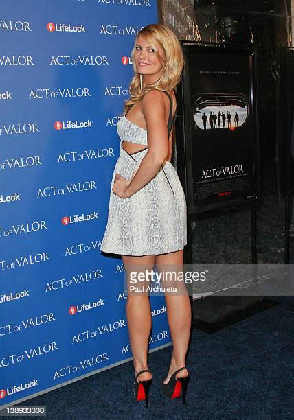 Actress Courtney Hansen attends the 'Act Of Valor' Los Angeles premiere at ArcLight Cinemas Cinerama Dome on February 13 2012 in Hollywood California