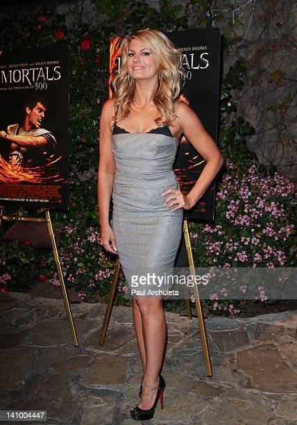 Actress Courtney Hansen attends the 'Immortals' DVD and BluRay release party at The Playboy Mansion on March 6 2012 in Beverly Hills California