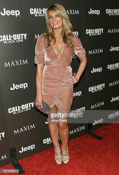 Actress Courtney Hansen attends the Jeep MAXIM and Call of Duty Black Ops Celebration of The 2010 Maximum Warrior at SupperClub Los Angeles on...