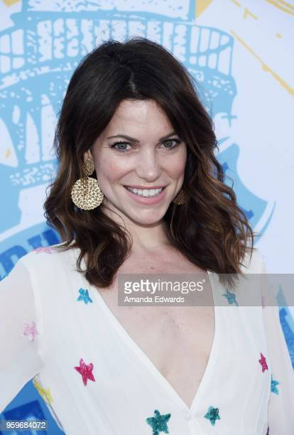 Actress Courtney Henggeler arrives at the 2018 Heal The Bay's Bring Back The Beach Awards Gala at The Jonathan Club on May 17 2018 in Santa Monica...