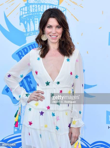 Actress Courtney Henggeler attends the 2018 Heal The Bay's Bring Back The Beach Awards Gala at The Jonathan Club on May 17 2018 in Santa Monica...