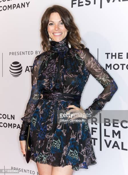 Actress Courtney Henggeler attends the 'Literally Right Before Aaron' Premiere during 2017 Tribeca Film Festival at SVA Theatre on April 22 2017 in...
