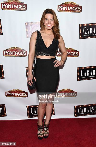 Actress Courtney Hope arrives at the opening of 'Cabaret' at the Hollywood Pantages Theatre on July 20 2016 in Hollywood California