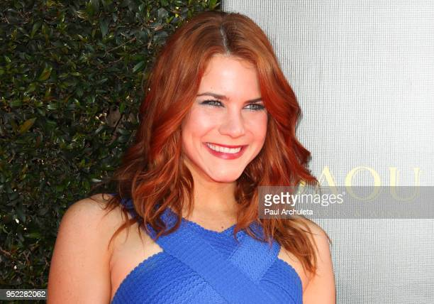 Actress Courtney Hope attends the 45th Annual Daytime Creative Arts Emmy Awards at the Pasadena Civic Auditorium on April 27 2018 in Pasadena...