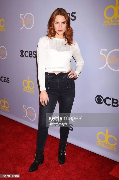Actress Courtney Hope attends the CBS' 'The Carol Burnett Show 50th Anniversary Special' at CBS Televison City on October 4 2017 in Los Angeles...